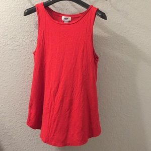 Old navy red flowy tank top